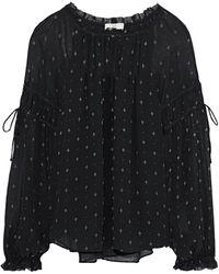 fcbf4624be1d3d Joie - Woman Amalthea Printed Silk-georgette Blouse Black - Lyst