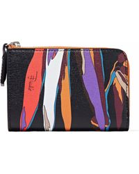 Emilio Pucci - Printed Textured-leather Wallet - Lyst