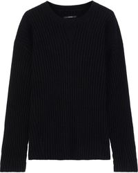 J Brand Tiffany Ribbed Cashmere Sweater - Black