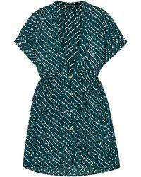 ViX Ventana Ocean Fuji Printed Voile Mini Dress - Blue