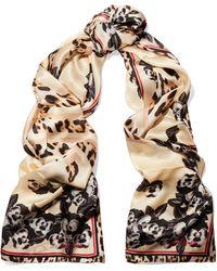 Just Cavalli - Printed Silk Scarf - Lyst