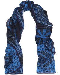 Roberto Cavalli - Printed Modal And Cashmere-blend Gauze Scarf Cobalt Blue - Lyst
