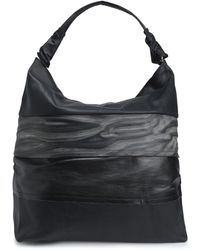 Rick Owens Panelled Coated Textured-leather Tote Black