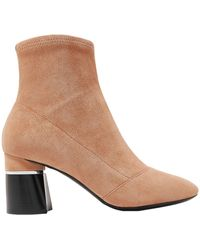 3.1 Phillip Lim Drum Suede Ankle Boots - Natural