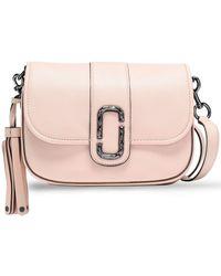 Marc Jacobs Tasselled Leather Shoulder Bag Pastel Pink