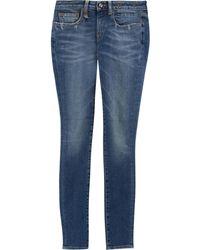 R13 Kate Low-rise Skinny Jeans Größe 24 - Blue