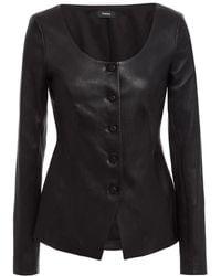 Theory Stretch-leather Jacket - Black