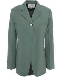 3.1 Phillip Lim Wool-blend Crepe Blazer Grey Green