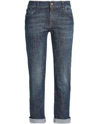 Brunello Cucinelli - Mid-rise Slim-leg Jeans - Lyst