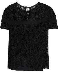 Needle & Thread - Flocked Georgette Top - Lyst
