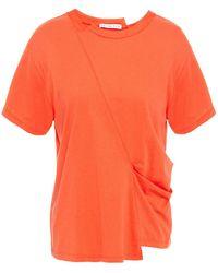 Rejina Pyo Sabrina Draped Cotton-jersey T-shirt - Orange