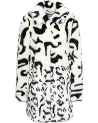 Shrimps Leopard-print Faux Fur Coat Ivory - White