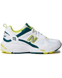 New Balance Suede-trimmed Mesh And Leather Trainers - White