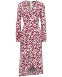 Jay Godfrey Kareem Wrap-effect Floral-print Crepe Midi Dress - Multicolor