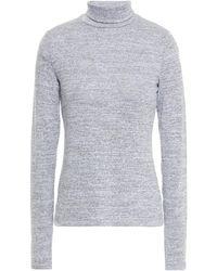 Rag & Bone Mélange Stretch-knit Turtleneck Top Stone - Multicolour