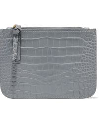 Zimmermann Croc-effect Leather Pouch Grey