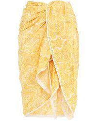 Zimmermann Printed Cotton-voile Pareo Marigold - Yellow