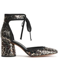 Marc Jacobs - Grosgrain-trimmed Sequined Woven Court Shoes - Lyst