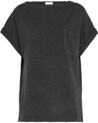Brunello Cucinelli - Bead-embellished Cashmere Top - Lyst