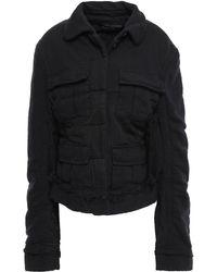 Haider Ackermann Cotton-jersey, Canvas And Twill Jacket Black