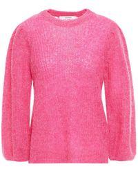 Gestuz Rikka Pointelle-trimmed Alpaca-blend Jumper - Pink