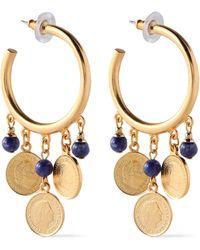 Ben-Amun 24-karat Gold-plated Stone Earrings Gold - Metallic