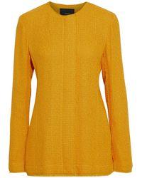JOSEPH Jerra Frayed Bouclé-tweed Jacket - Yellow