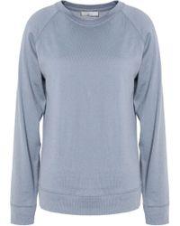Vince - Pima Cotton And Cashmere-blend Jersey Top Light Blue - Lyst