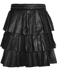 Claudie Pierlot - Tiered Leather Mini Skirt - Lyst