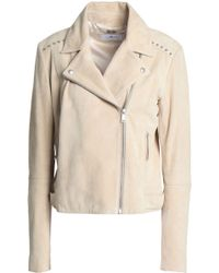 7 For All Mankind - Studded Suede Biker Jacket - Lyst