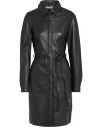 Walter Baker Clara Belted Leather Dress - Black
