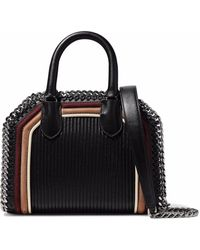 Stella McCartney - Chain-trimmed Quilted Faux Suede And Leather Tote - Lyst