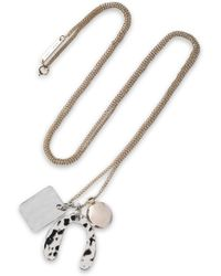 Proenza Schouler Hammered Gold And Silver-tone Necklace Silver - Metallic