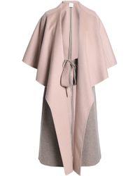 Agnona - Cape-effect Cashmere Coat - Lyst