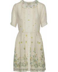 Sea - Floral-print Cotton And Silk-blend Gauze Mini Dress - Lyst