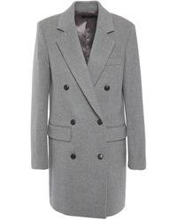JOSEPH Elkins Double-breasted Wool-blend Felt Coat Grey
