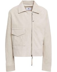 7 For All Mankind - 7 For All Kind Suede Jacket Cream - Lyst
