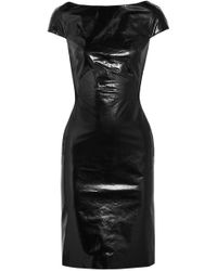 Gareth Pugh - Glossed-leather And Jersey Dress - Lyst