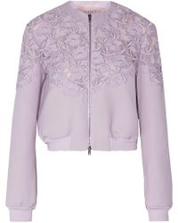 Giambattista Valli - Guipure Lace-paneled Silk And Wool-blend Jacket - Lyst