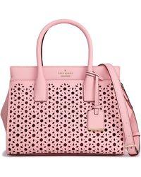 Kate Spade Cameron Street Candace Laser-cut Leather Shoulder Bag - Pink