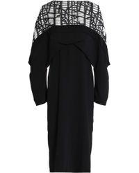 Chalayan - Jacquard-paneled Crepe Dress - Lyst