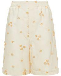 Marni Fil Coupé Shorts - White