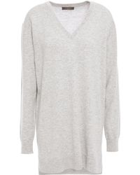 N.Peal Cashmere - Cashmere Sweater Light Gray - Lyst