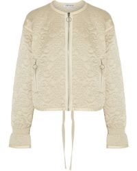 Elizabeth and James Daisy Quilted Silk-satin Jacket - Natural