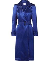 Dion Lee Belted Cutout Mulberry Silk-satin Dress - Blue