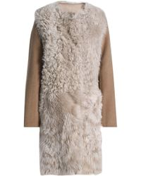 Yves Salomon - Reversible Felt-paneled Shearling Coat - Lyst
