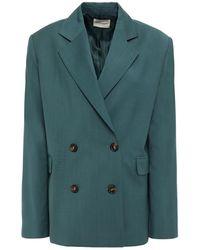 Loulou Studio Tatakoto Double-breasted Wool Blazer - Green
