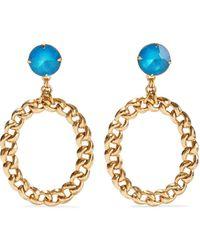 Elizabeth Cole Brielle 24-karat Gold-plated Crystal Earrings Gold - Metallic