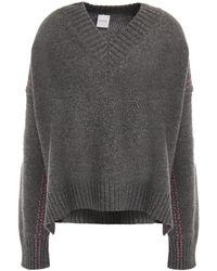Paul Smith Oversized Mélange Wool Jumper - Grey