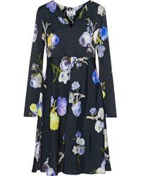 Acne Studios - Dahari Floral-print Satin Dress - Lyst